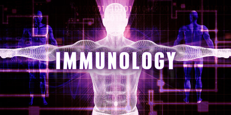 immunology: Immunology as a Digital Technology Medical Concept Art Stock Photo