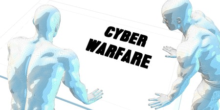 cyber warfare: Cyber Warfare Discussion and Business Meeting Concept Art