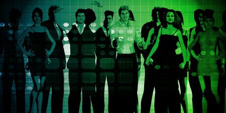 Los hombres de negocios Grupo de pie juntos en la Unidad