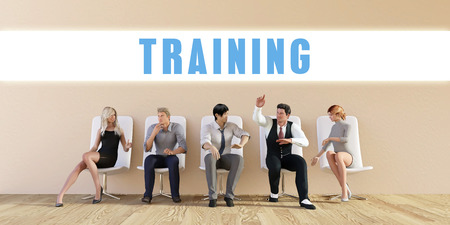 sit: Business Training Being Discussed in a Group Meeting Stock Photo