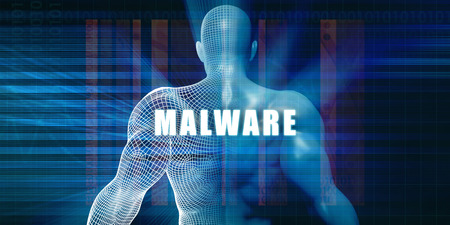 malware: Malware as a Futuristic Concept Abstract Background Stock Photo