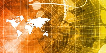 グローバルなビジネス プレゼンテーションのための抽象的な背景