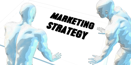 strategy meeting: Marketing Strategy Discussion and Business Meeting Concept Art