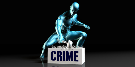 eliminate: Get Rid of Crime and Remove the Problem Stock Photo