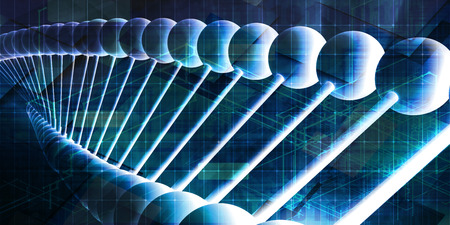 DNA Helix Abstract Background as a Science Concept Stock Photo