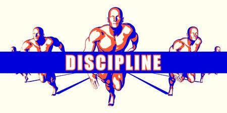 Disziplin als Wettbewerb Konzept Illustration Kunst