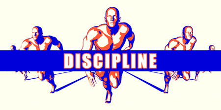 Discipline as a Competition Concept Illustration Art Stock Photo