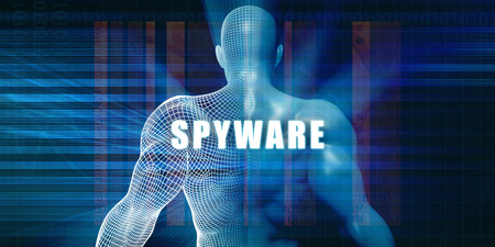 spyware: Spyware as a Futuristic Concept Abstract Background