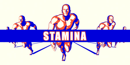 stamina: Stamina as a Competition Concept Illustration Art