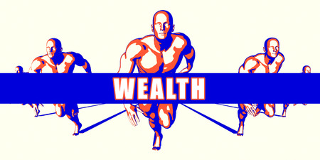 wealth concept: Wealth as a Competition Concept Illustration Art