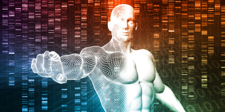 Genetic Engineering Science Research and Development Concept Stock Photo
