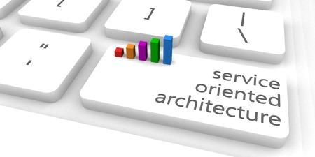 oriented: Service Oriented Architecture or SOA as Concept Stock Photo