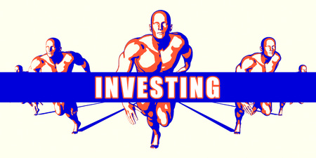 investing: Investing as a Competition Concept Illustration Art