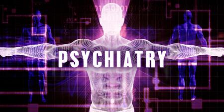 psychiatry: Psychiatry as a Digital Technology Medical Concept Art