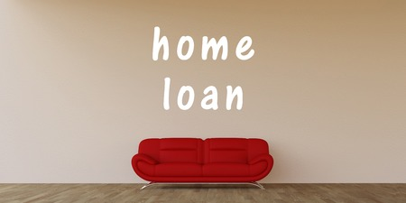 home loan: Home Loan Concept with Home Interior Art