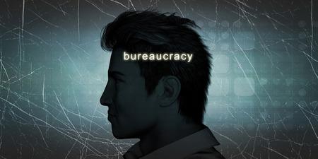 bureaucracy: Man Experiencing Bureaucracy as a Personal Challenge Concept Stock Photo