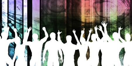 celebration background: Celebration Background with People Cheering and Celebrating