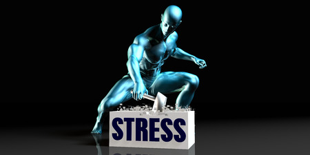complete solution: Get Rid of Stress and Remove the Problem Stock Photo