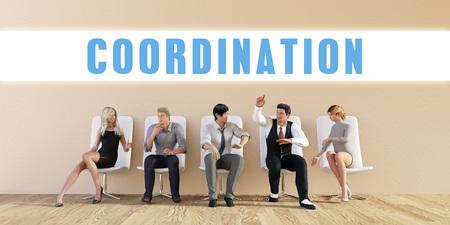coordinacion: Coordinación de negocios están discutiendo en una reunión del Grupo Foto de archivo