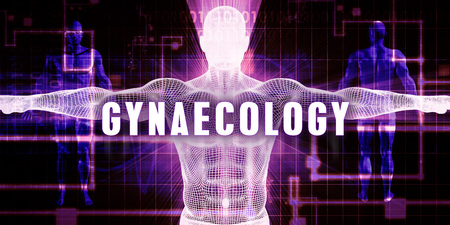 gynaecology: Gynaecology as a Digital Technology Medical Concept Art