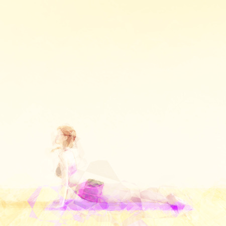 stretching: Exercise and Stretching Concept Illustration Abstract Background