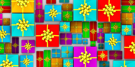 entire: Pile of Presents as an Entire Whole Background Art Stock Photo