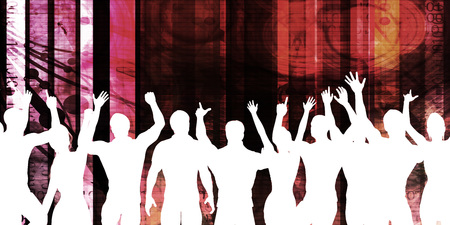 electronic background: Disco Electronic Music Techno Party Background Art
