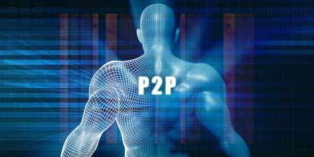 p2p: P2p as a Futuristic Concept Abstract Background