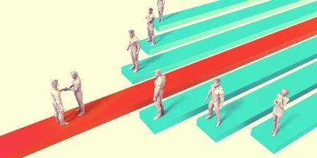Sichern oder einen Vertrag Projekt als ein Business-Konzept zu gewinnen
