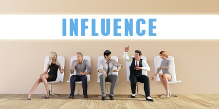 discussed: Business Influence Being Discussed in a Group Meeting Stock Photo