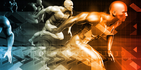 conditioning: Fitness Technology and Sports Monitoring Data Concept Background