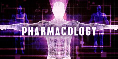 デジタル技術の医療コンセプト アートとしての薬理学 写真素材