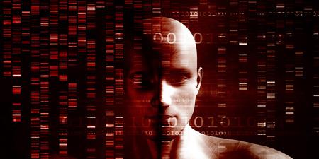 Recherche médicale en génétique et l'ADN science comme Concept