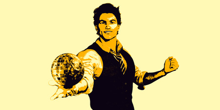 Global Technology Concept with Man Holding Globe