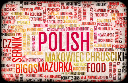 gastronomy: Polish Food and Cuisine Menu Background with Local Dishes