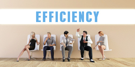 discussed: Business Efficiency Being Discussed in a Group Meeting