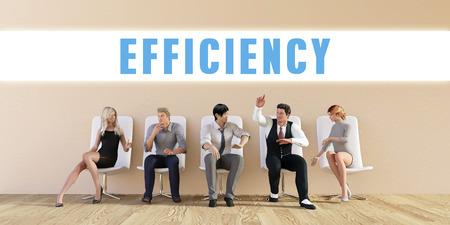 eficiencia: Eficiencia de negocios están discutiendo en una reunión del Grupo