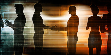 business discussion: Business Discussion Between Two Teams of Executives