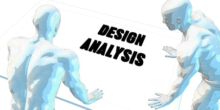 serious business: Design Analysis Discussion and Business Meeting Concept Art Stock Photo