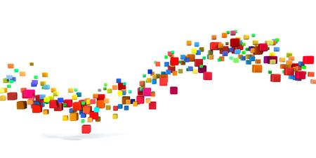 Blockchain Technology as a Creative Business Concept Standard-Bild