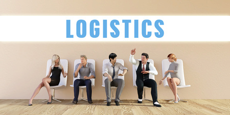 discussed: Business Logistics Being Discussed in a Group Meeting Stock Photo