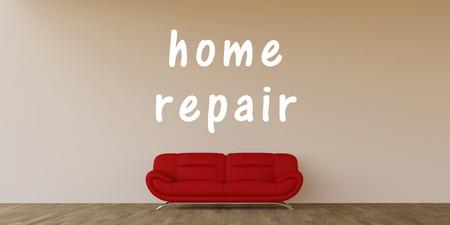 Accueil de réparation Concept avec Home Art Intérieur Banque d'images - 64347701