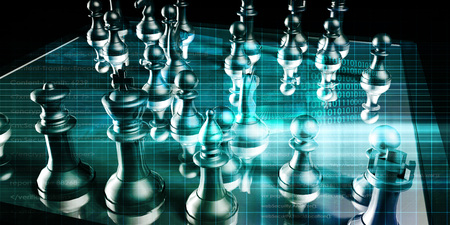 pensamiento estrategico: Business Strategy with a Chess Board Concept