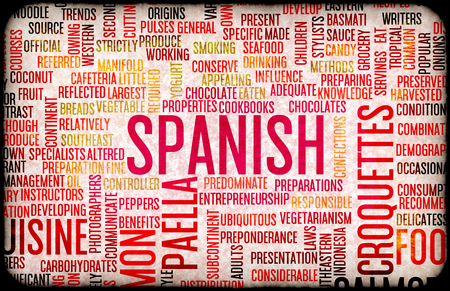 spanish food: Spanish Food and Cuisine Menu Background with Local Dishes