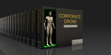 Corporate Drone Endless Supply of Labor in Job Market Concept