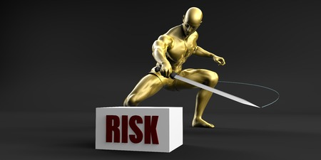 minimize: Reduce Risk and Minimize Business Concept Stock Photo
