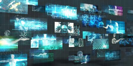 aggregator: Digital Marketing Platform and Effective Technology Promotion Stock Photo