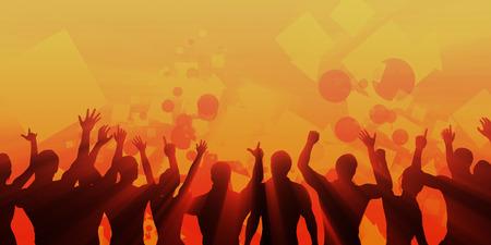 gente bailando: Compañía Cena y acontecimiento de la danza como un fondo