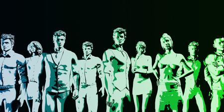 manpower: Human Resources Management Manpower Workforce Concept Art Stock Photo