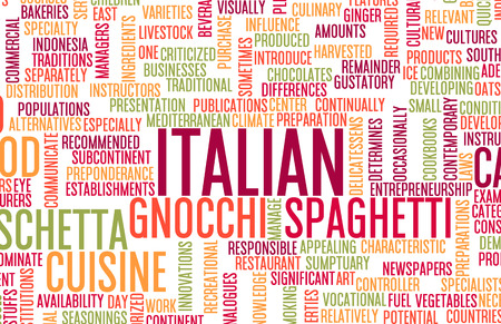 gastronomy: Italian Food and Cuisine Menu Background with Local Dishes